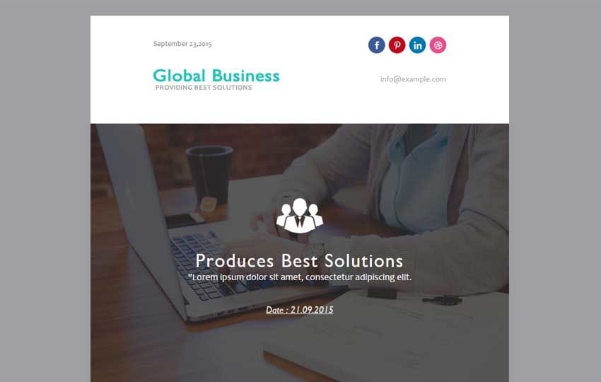 Global Business a Newsletter Category Responsive Web Template Mobile website template Free
