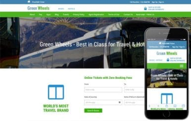 Green Wheels a Travel Category Responsive Web Template
