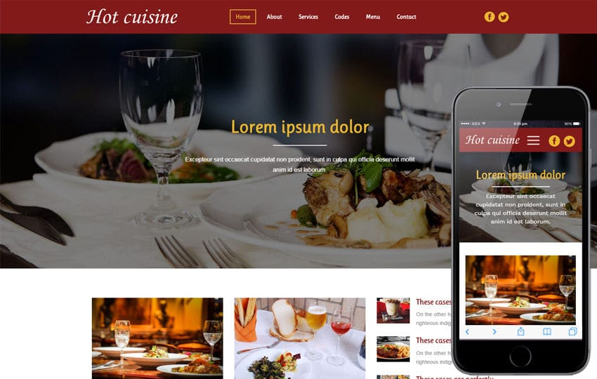 Hot Cuisine a Hotel Category Bootstrap Responsive  Web Template