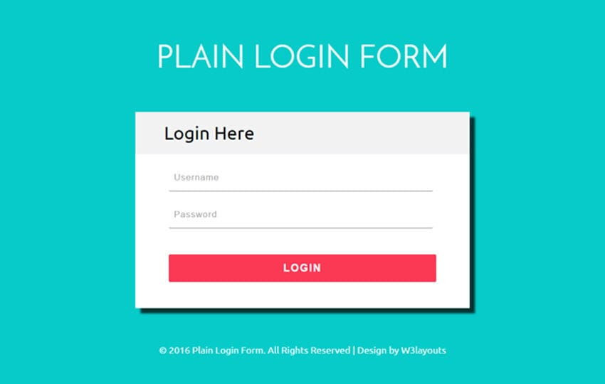 Plain Login Form a Flat Responsive Widget Template Mobile website template Free