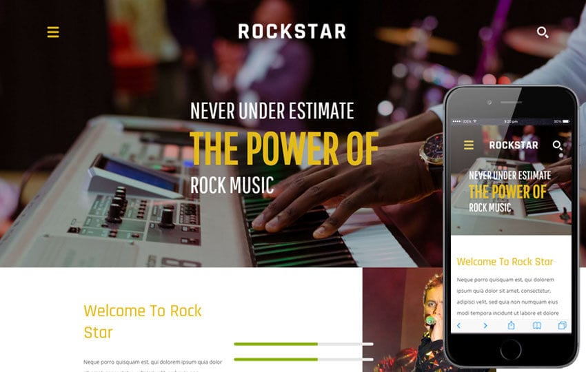 Rock Star a Entertainment  Flat Bootstrap Responsive Web Template Mobile website template Free