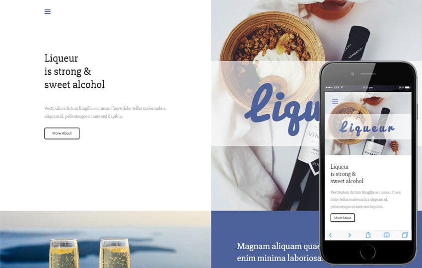 Liqueur a Hotel Category Responsive web Template