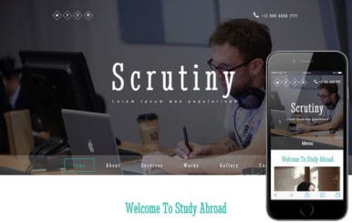 Scrutiny a Education Category Responsive Web Template