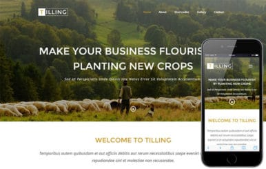 Tilling a Agriculture Category Responsive Web Template