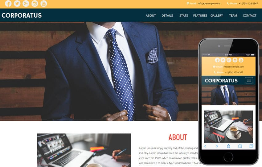 Corporatus a Corporate Category Flat Bootstrap Responsive Web Template