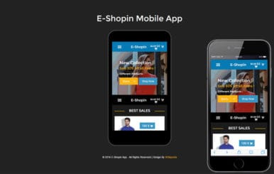 E-Shop in A Mobile App Flat Bootstrap Responsive Web Template