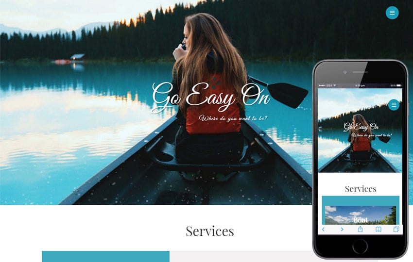 Go Easy On a Travel Category Bootstrap Responsive Web Template Mobile website template Free