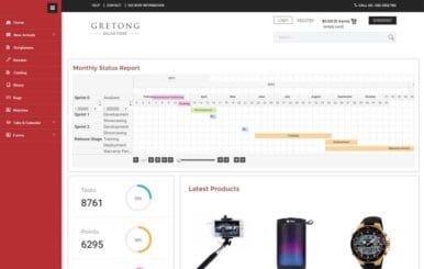 Gretong E commerce Flat Bootstrap Responsive Admin Panel
