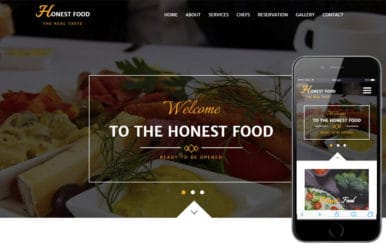 Honest Food a Hotel Category Flat Bootstrap Responsive Web Template