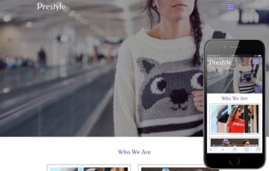 Prestyle a Fashion Category Flat Bootstrap Responsive  Web Template