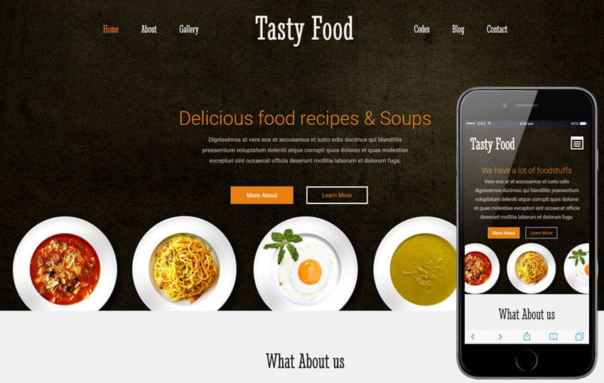 Tasty Food a Hotel Category Flat Bootstrap Responsive Web Template