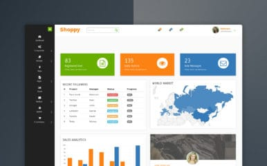 Shoppy eCommerce Admin Panel Template