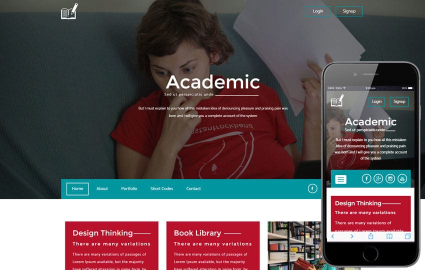 Academic A Education Category Flat Bootstrap Responsive Web Template Mobile website template Free