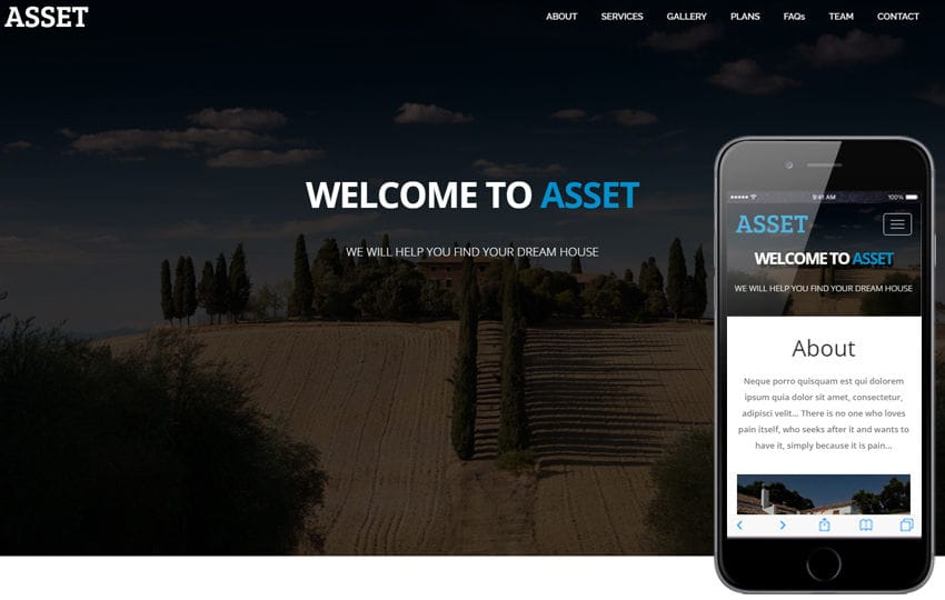 Asset a Real Estate Flat Bootstrap Responsive Web Template Mobile website template Free
