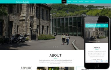 Career Builder an education category Flat bootstrap Responsive  Web Template