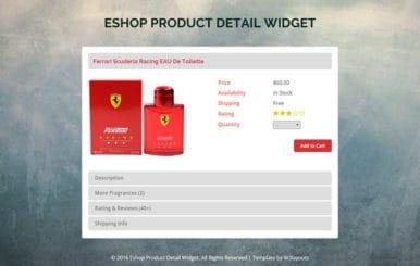 E Shop Product Details Widget A Flat Responsive Widget Template
