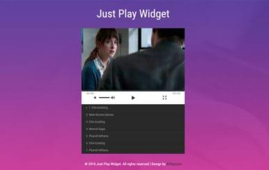 Just Play Widget Flat Responsive Widget