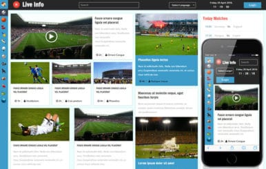 Live info a Sports Category Flat Bootstrap Responsive Web Template