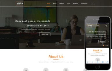 Max a Corporate Category Flat Bootstrap Responsive web Template