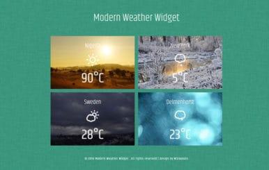 Modern Weather Widget Flat Responsive Widget Template