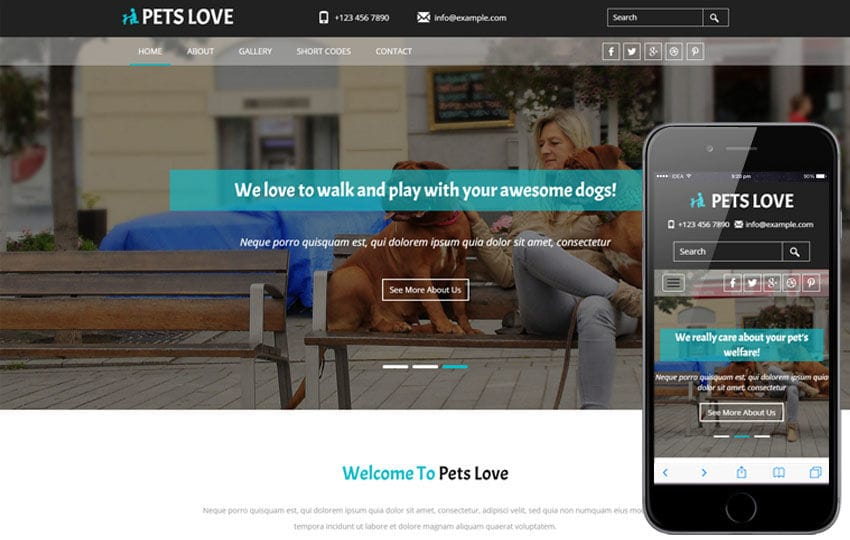 Pets Love a animal Category Flat Bootstrap Responsive Web Template Mobile website template Free