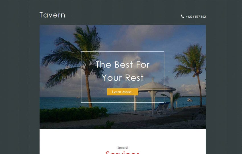 Tavern a Travel Category News letter Template Mobile website template Free