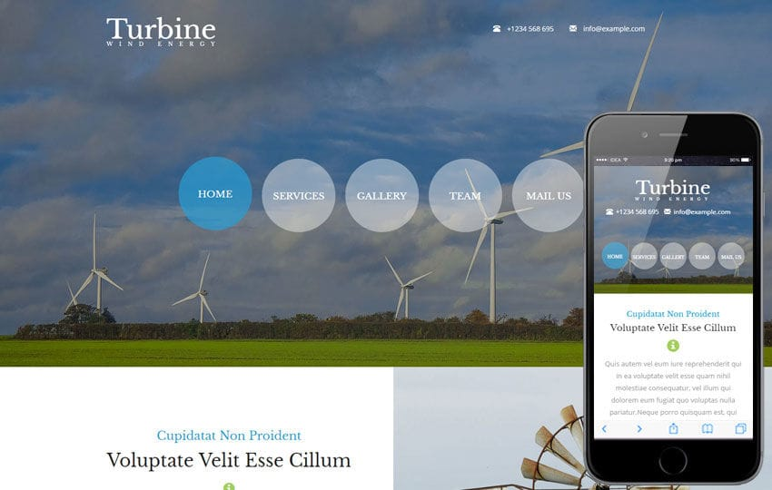 Turbine a Industrial Flat Bootstrap Responsive Web Template Mobile website template Free