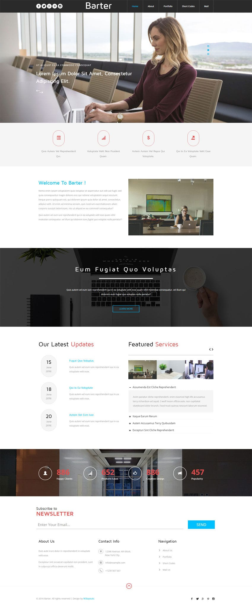 Barter a Corporate Category Flat Bootstrap Responsive Web