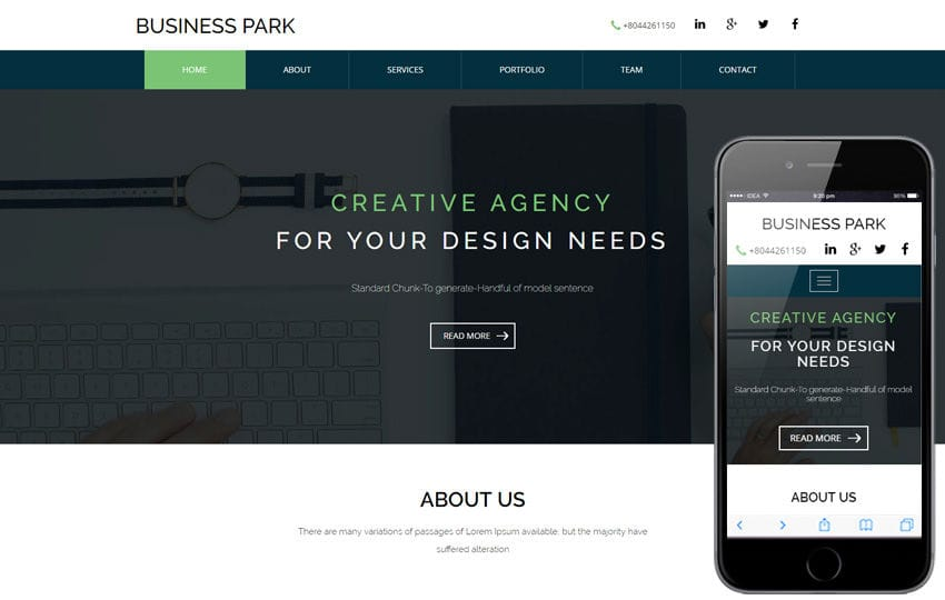 Business Park a corporate category Flat Bootstrap Responsive Web Template Mobile website template Free