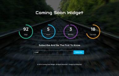 Coming Soon Widget Flat Responsive Widget Template