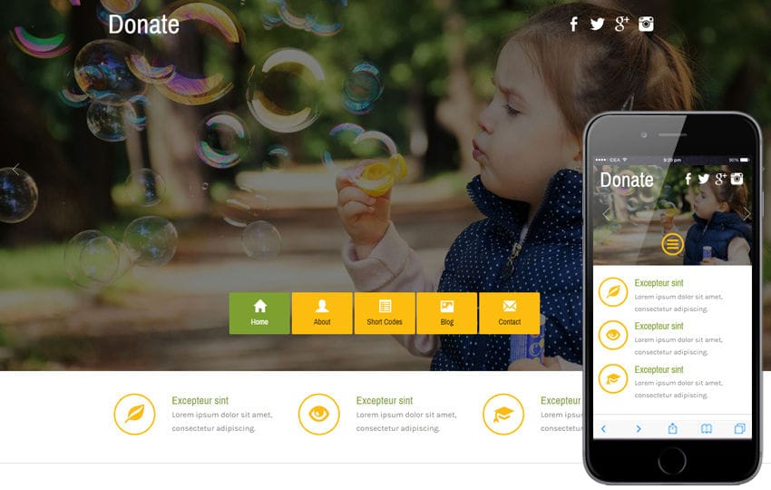 Donate a Social Category Flat Bootstrap Responsive  Web Template Mobile website template Free