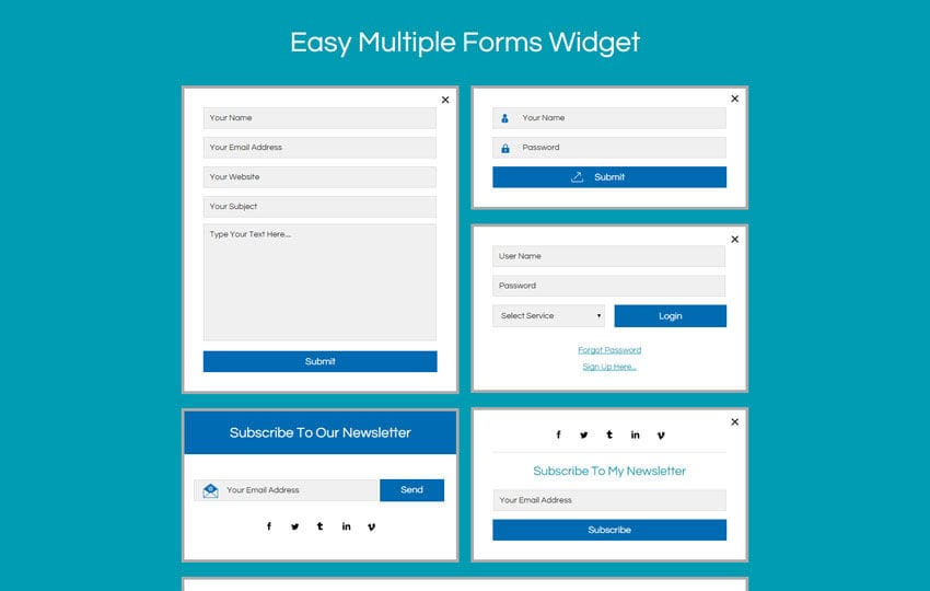 Easy Multiple Forms Widget Flat Responsive Widget Template