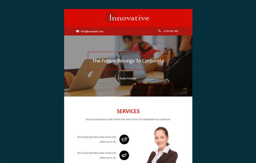 Innovative a News Letter Category Template Mobile website template Free
