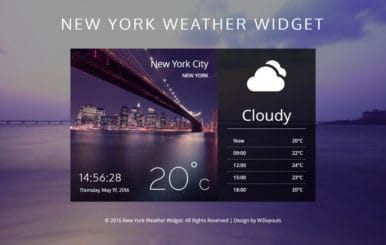 New York Weather Widget A Flat Responsive Widget Template