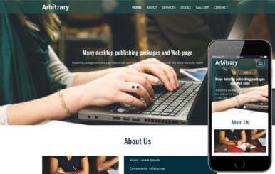 Arbitrary a Corporate Category Flat Bootstrap Responsive Website Template