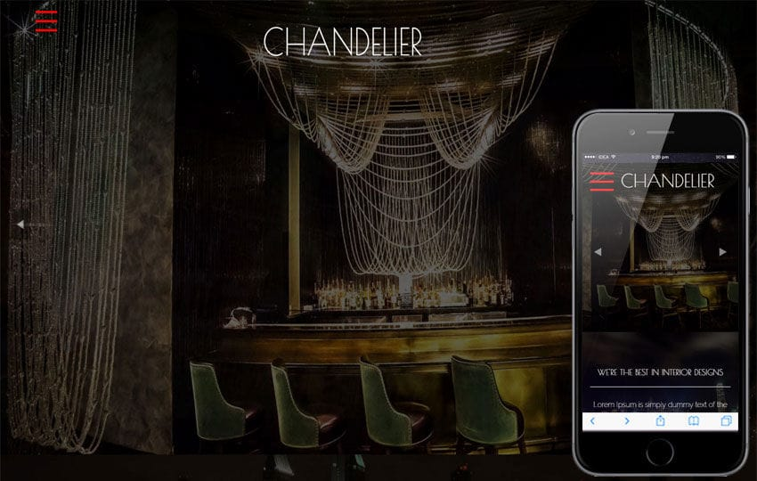 Chandelier a Furniture Category Flat Bootstarp Responsive Web Template