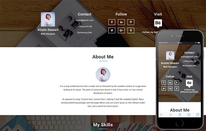 Curriculum vitae a Personal Category  Flat Bootstrap Responsive Web Template