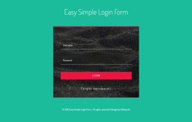 Easy Simple Login Form Flat Responsive Widget Template