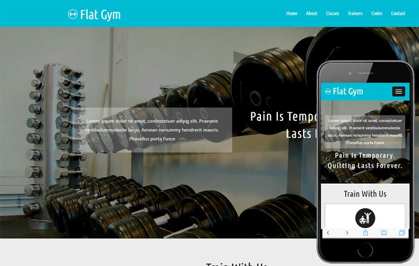 Flat Gym a Sports Category Flat Bootstrap Responsive Web Template