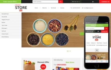 Grocery Store – Ecommerce Category Flat Bootstrap Responsive Website Template