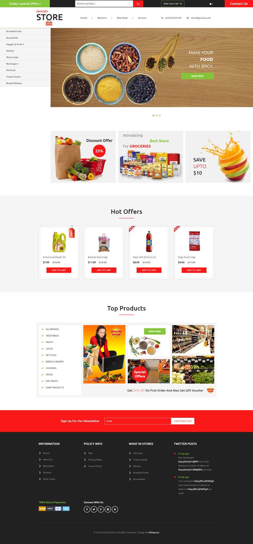 Grocery Store, a E-commerce website template for your online store.