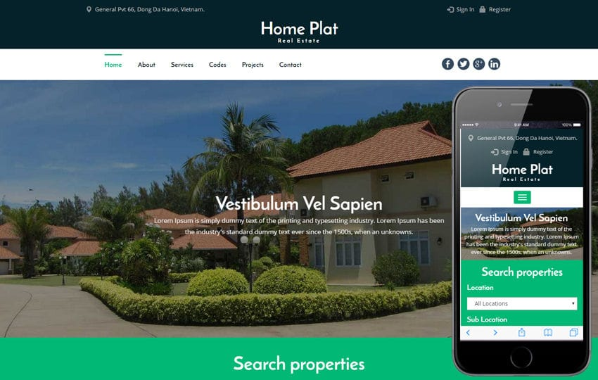 Home Plat a Real Estate Category Bootstrap Responsive Web Template