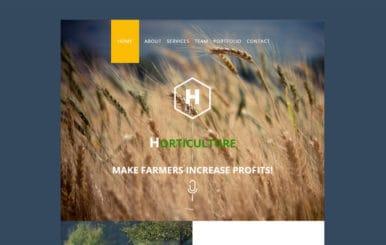 Horticulture a Newsletter Template