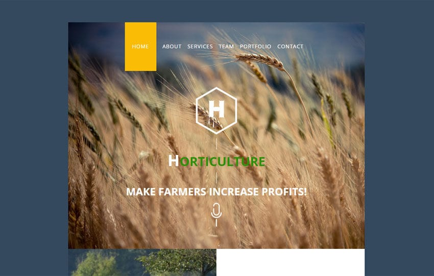 Horticulture a Newsletter Template Mobile website template Free