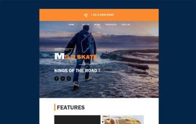 Mild Skate a Newsletter Template
