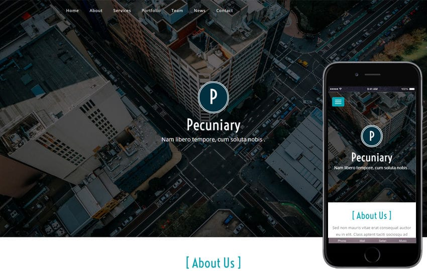 Pecuniary a Corporate Business Category Flat Bootstrap Responsive web Template Mobile website template Free