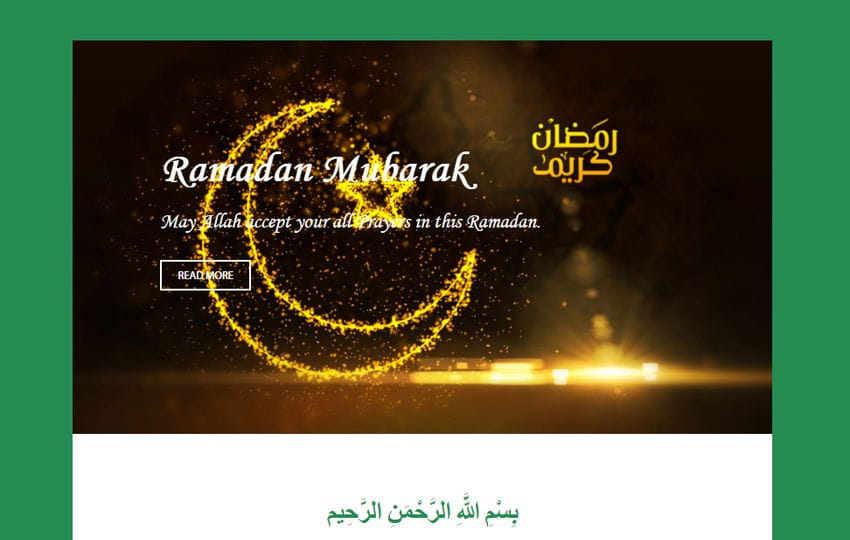 Ramadan News Letter Template Mobile website template Free