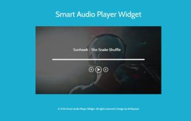 Smart Audio Player Widget Flat Responsive Widget Template