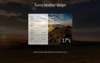 Sunny Weather Widget Flat Responsive Widget Template