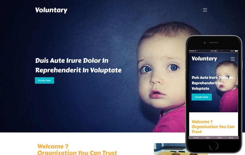 Voluntary a Society and People Category Bootstrap Responsive Web Template